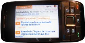 m.meneame.net, versión móvil del Menéame
